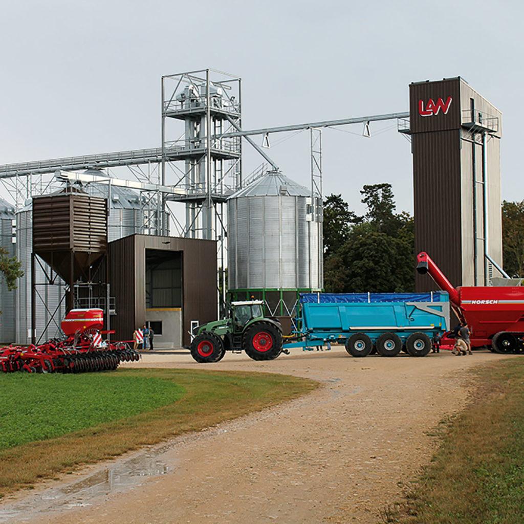 Storage drying ggs grain