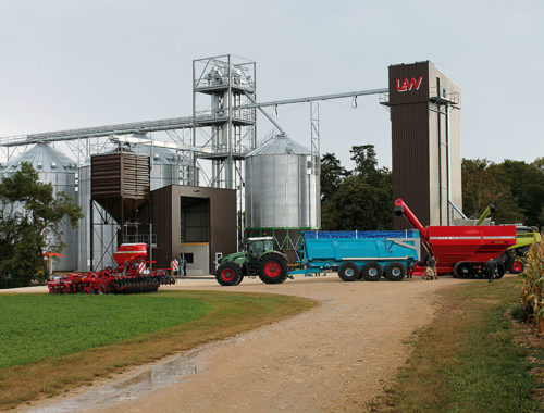 Storage drying ggs grain