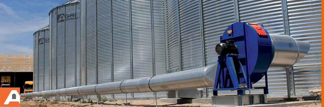 réseau de ventilation pour silos à grains