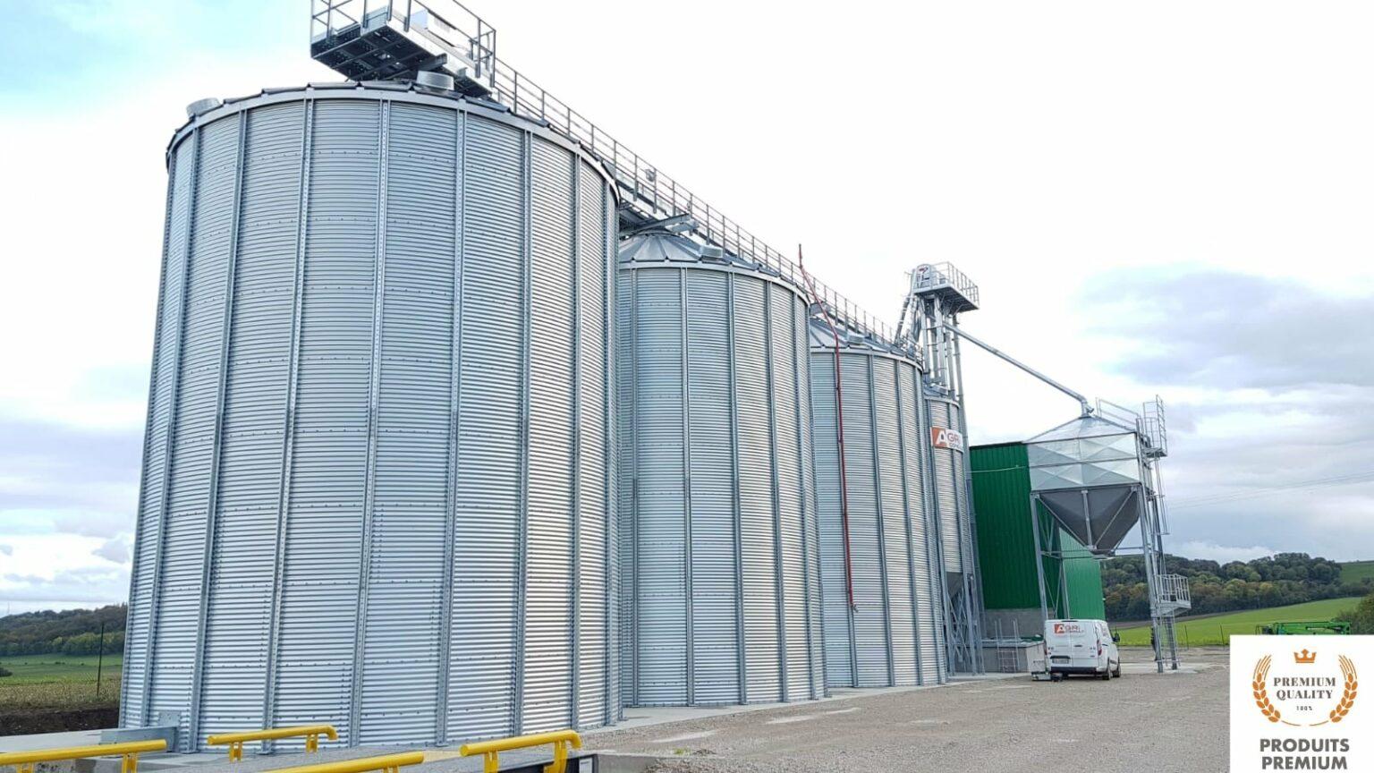 silo stockage cereale bio installation agriconsult
